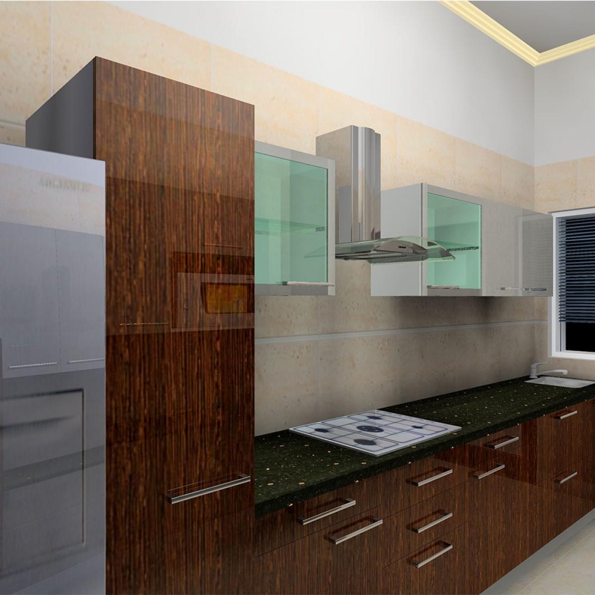 parallel kitchen design. Classic Mahogany Parallel Kitchen  Kitchens