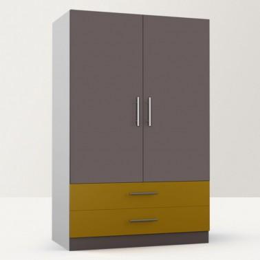 Beautility Freestanding Double Door Wardrobe