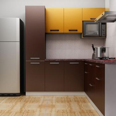 Rich Cocoa U shaped Kitchen